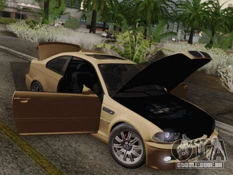 BMW M3 E46 2005 para GTA San Andreas vista superior
