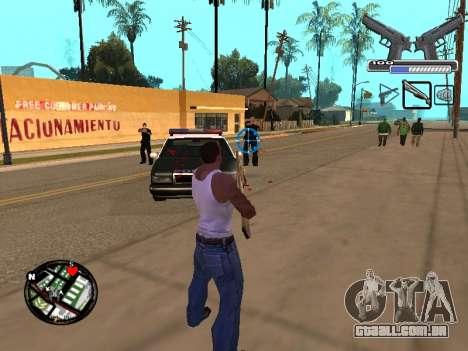 С-HUD por MoLoT para GTA San Andreas terceira tela