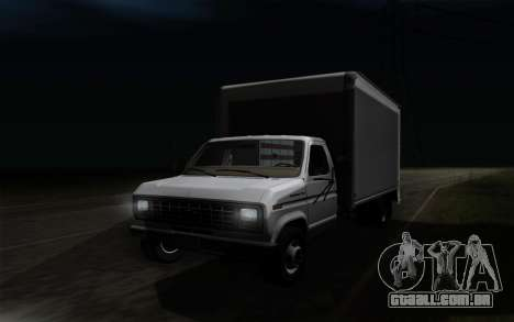 Ford E-350 1982 para GTA San Andreas vista interior