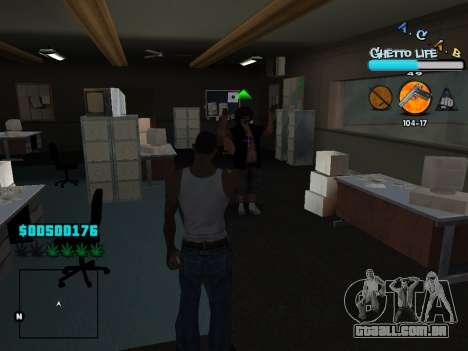 C-HUD new A.C.A.B para GTA San Andreas sétima tela