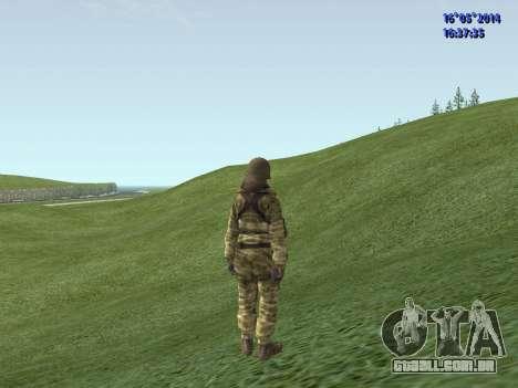 Militar camuflagem para GTA San Andreas segunda tela