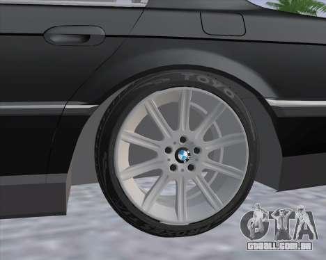 BMW 7-series E38 para GTA San Andreas traseira esquerda vista