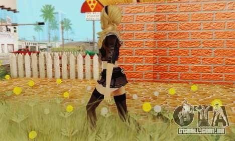 Babydoll Skin para GTA San Andreas quinto tela