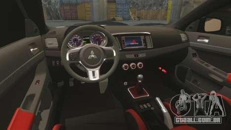 Mitsubishi Lancer Evolution X FQ400 (Cor Rims) para GTA 4 vista superior