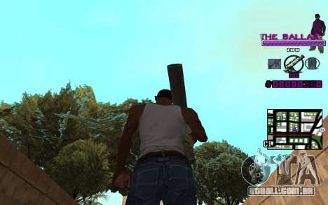 C-HUD The Ballas Gang para GTA San Andreas terceira tela