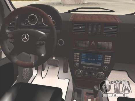 Mercedes-Benz G500 para GTA San Andreas interior