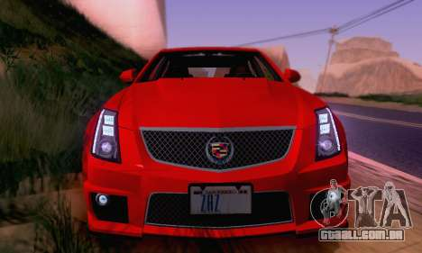 Cadillac CTS-V Sedan 2009-2014 para as rodas de GTA San Andreas