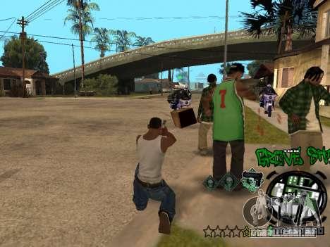 C-HUD Groove Street para GTA San Andreas nono tela