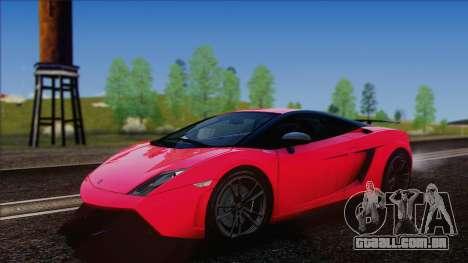 Lamborghini Gallardo LP570-4 Edizione Tecnica para GTA San Andreas traseira esquerda vista