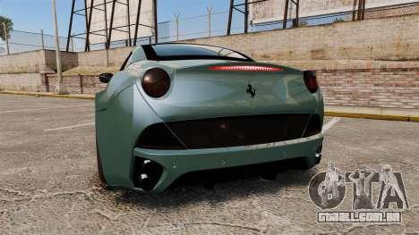 Ferrari California para GTA 4 traseira esquerda vista
