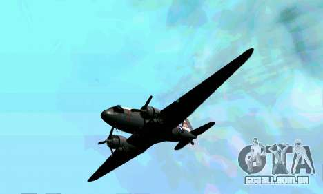 C-47 Dakota USAF para GTA San Andreas vista interior