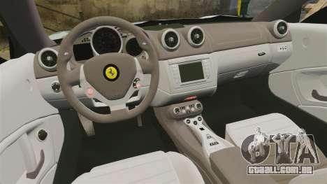 Ferrari California para GTA 4 vista lateral