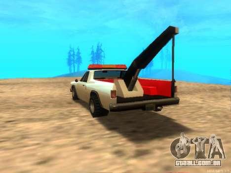 Novo Reboque (Picador) para GTA San Andreas traseira esquerda vista