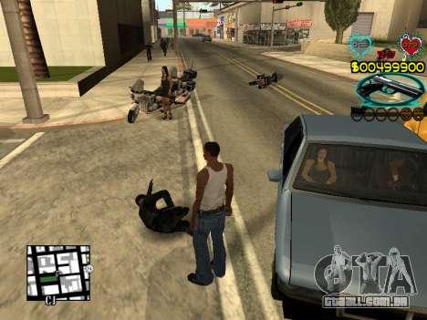 C-HUD Guns para GTA San Andreas sétima tela