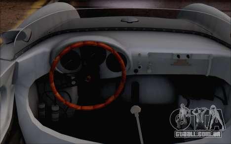 Porsche 550 Spyder 1955 para GTA San Andreas vista direita