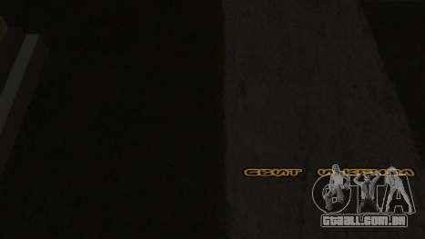 Nova fonte V.2 para GTA San Andreas quinto tela