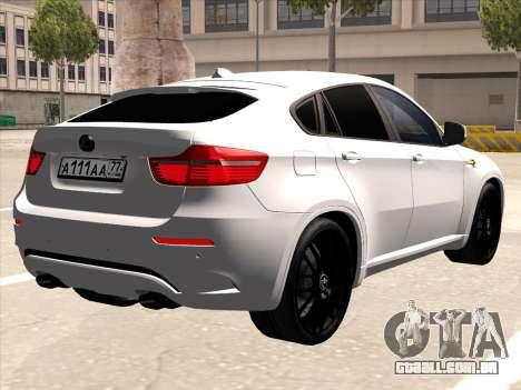 BMW X6 Hamann para GTA San Andreas vista traseira