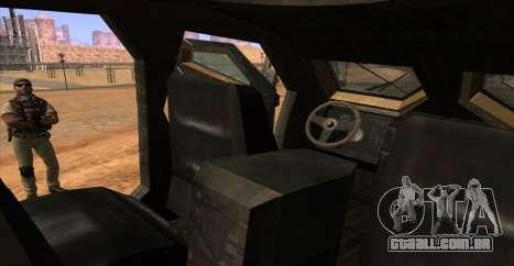 M-ATV из Call of Duty: Ghosts para GTA San Andreas vista superior