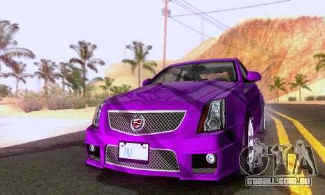 Cadillac CTS-V Sedan 2009-2014 para GTA San Andreas traseira esquerda vista
