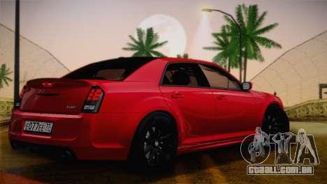 Chrysler 300 SRT8 Black Vapor Edition para GTA San Andreas vista traseira