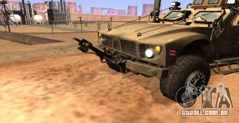 M-ATV из Call of Duty: Ghosts para GTA San Andreas traseira esquerda vista