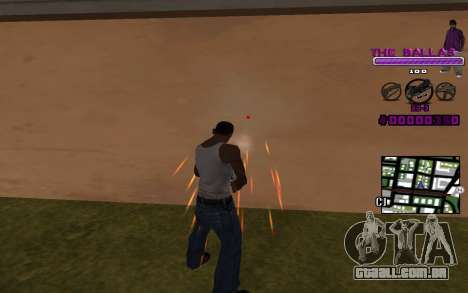 C-HUD The Ballas Gang para GTA San Andreas segunda tela