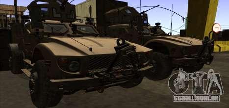 M-ATV из Call of Duty: Ghosts para GTA San Andreas vista inferior