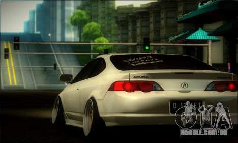 Acura RSX Stance para GTA San Andreas vista traseira