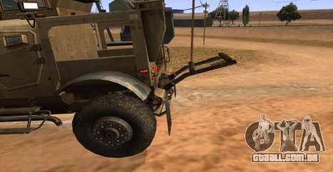 M-ATV из Call of Duty: Ghosts para GTA San Andreas vista direita
