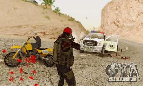 Blood On Screen para GTA San Andreas quinto tela