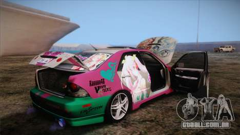 Toyota Altezza Sakura Miku Itasha para vista lateral GTA San Andreas