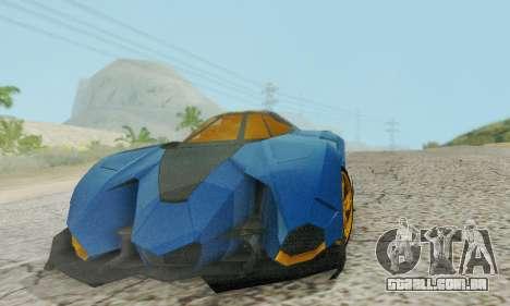 Lamborghini Egoista para GTA San Andreas vista direita