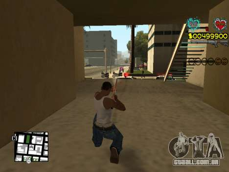 C-HUD Guns para GTA San Andreas nono tela
