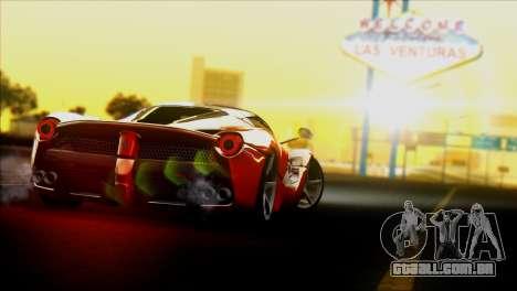 Ferrari LaFerrari 2014 para GTA San Andreas traseira esquerda vista