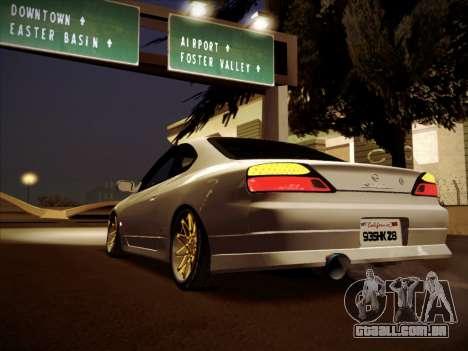 Nissan Silvia S15 Stanced para GTA San Andreas esquerda vista