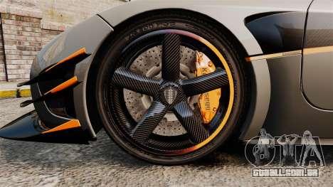 Koenigsegg One:1 [EPM] para GTA 4 vista de volta