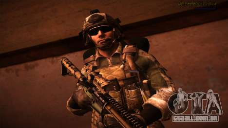 Ranger из Call Of Duty: Ghosts para GTA San Andreas por diante tela