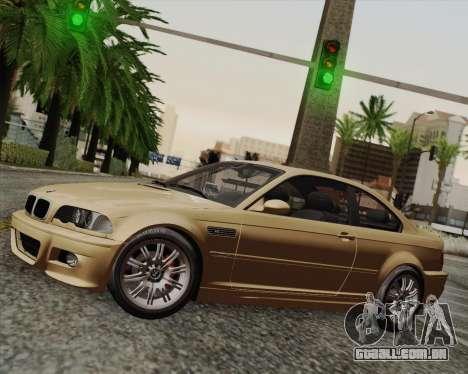 BMW M3 E46 2005 para GTA San Andreas traseira esquerda vista