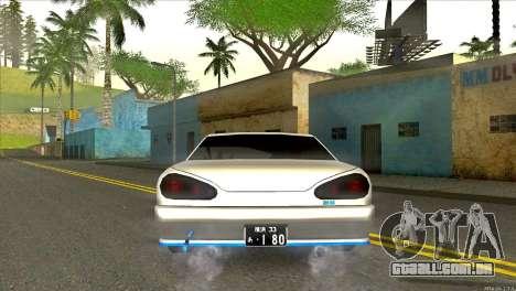 Elegy Neli para GTA San Andreas traseira esquerda vista