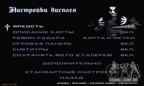 Black Metal Menu para GTA San Andreas sétima tela