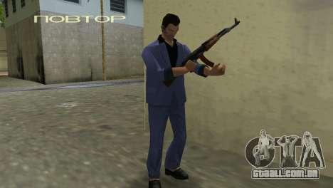 Kalashnikov Modernizado para GTA Vice City sexta tela