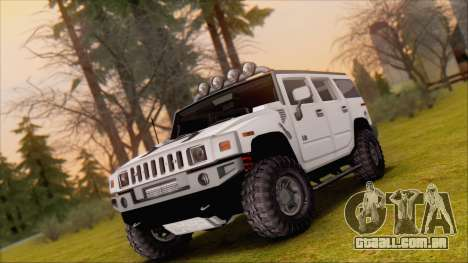 Hummer H2 Tunable para vista lateral GTA San Andreas