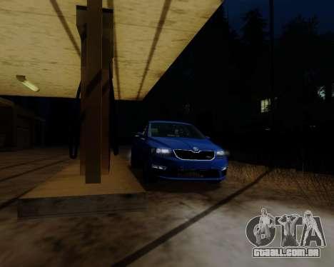 Skoda Octavia A7 RS para GTA San Andreas esquerda vista