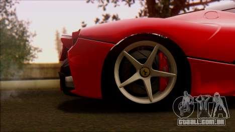 Ferrari LaFerrari 2014 para GTA San Andreas vista direita