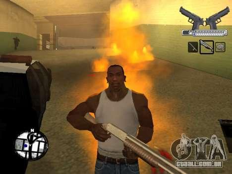 С-HUD por MoLoT para GTA San Andreas por diante tela