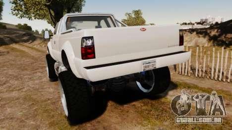 GTA V Vapid Sandking XL wheels v1 para GTA 4 traseira esquerda vista