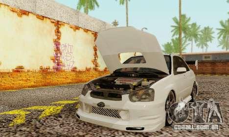 Subaru Impreza WRX Estoque para GTA San Andreas esquerda vista