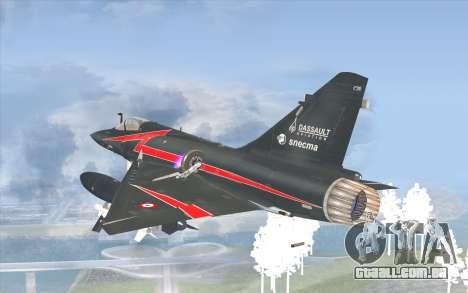 Dassault Mirage 2000-C para GTA San Andreas esquerda vista