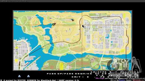 Mapa em tempo real para GTA San Andreas terceira tela