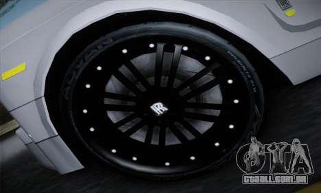 Rolls-Royce Phantom para GTA San Andreas traseira esquerda vista